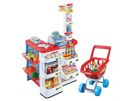 Super market i kolica- OGROMAN SET sa puno elemenata