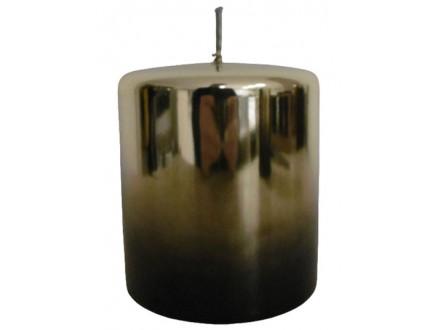 Sveća - Pillar, Gold Metallic