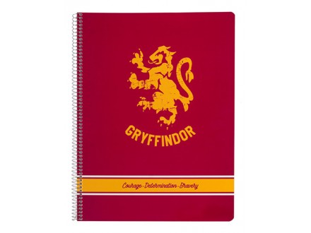 Sveska A4 - HP, Griffindor, Spirala Dikto, 80 l - Harry Potter