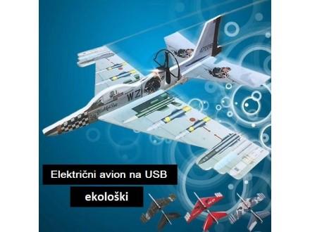 Svetleći električni avion koji leti