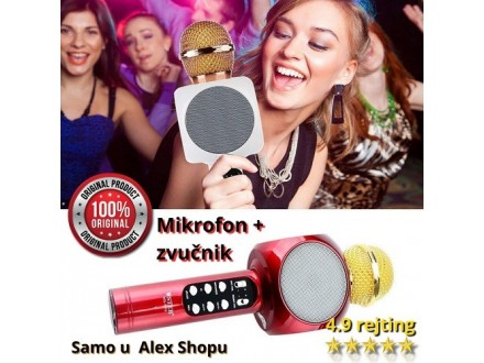 Svetleći mikrofon sa zvučnikom za karaoke -original