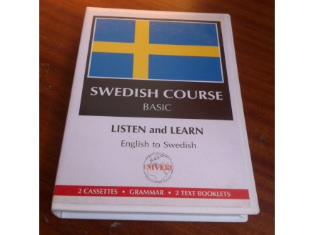 Sweedish course basic listen and learn kasete
