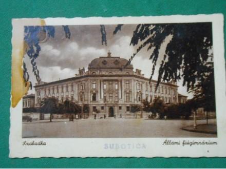 Szabatka-Subotica-Állami fiúgimnázium