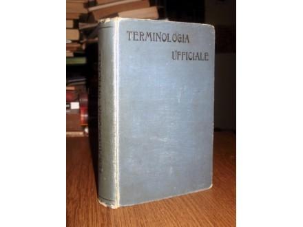 TALIJANSKA-SRPSKA-NEMAČKA SLUŽBENA TERMINOLOGIJA (1904)