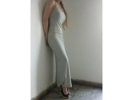 TERANOVA sivo-bela haljina