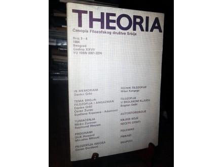 THEORIA 3-4/1984: Filozofija i angažman