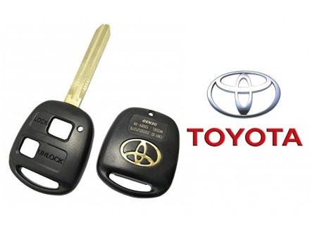 TOYOTA kljuc sa dva dugmeta i logom