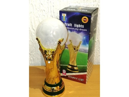 TROFEJ WORLD CUP led lampa 25,5cm