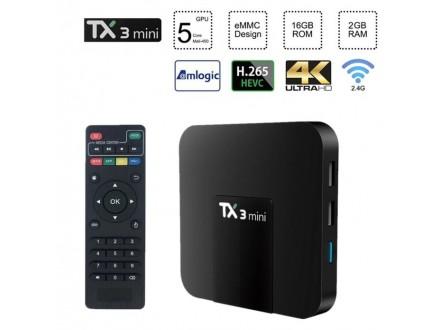 TX3 Android BOX smart TV 2GB Ra -16GB 4K Ultra HD