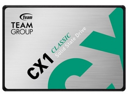 TeamGroup * 2.5` 480GB SSD SATA3 CX1 7mm 530/470 MB/s T253X5480G0C101 (4999)