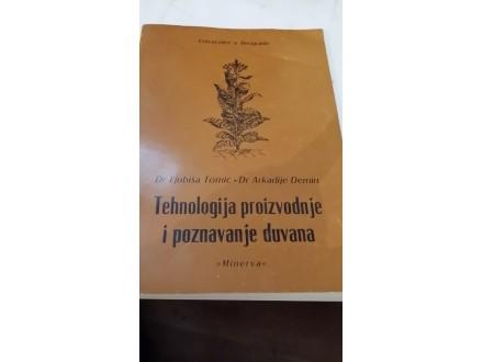 Tehnologija proizvodnje i poznavanje duvana - Tomić