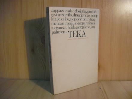 Tekstovi kritika TEKA, br.1/1972.