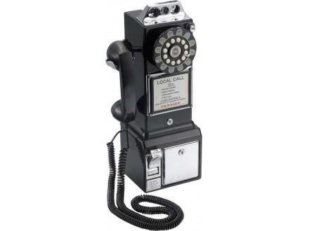Telefon i kasica - Retro - Black