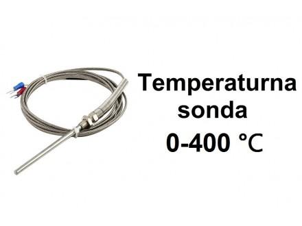 Temperaturna sonda 400℃ 3m K tip sa navojem M8