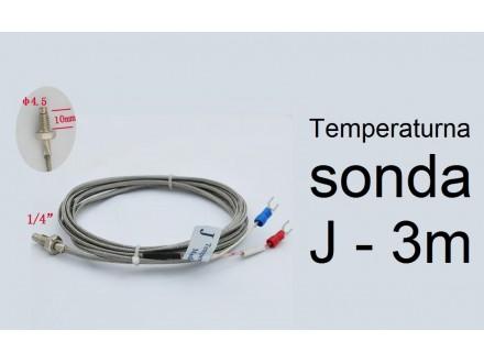 Temperaturna sonda 400C 3m J tip sa M6