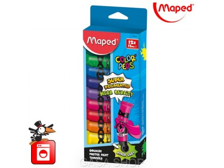 Tempere Maped Color Peps 12x12ml  No. 810510 - Novo