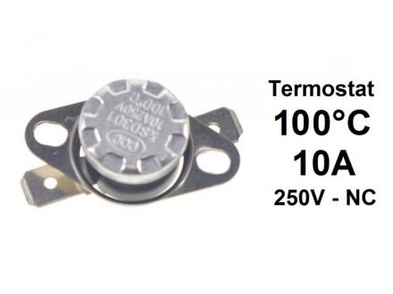 Termostat - 100°C - 10A - 250V - NC