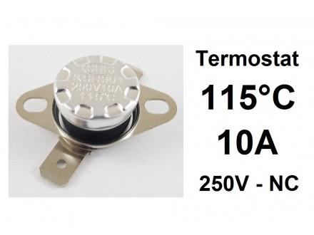 Termostat - 115°C - 10A - 250V - NC