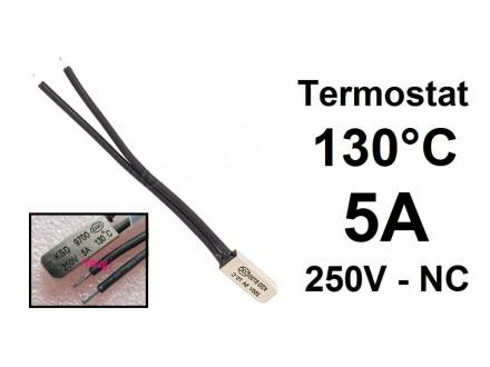 Termostat - 130°C - 5A - 250V - NC - bimetal