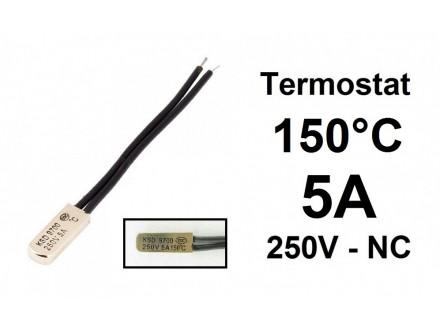 Termostat - 150°C - 5A - 250V - NC - bimetal