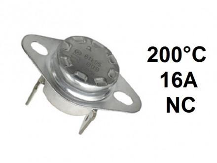 Termostat - 200°C - 16A - 250V - NC