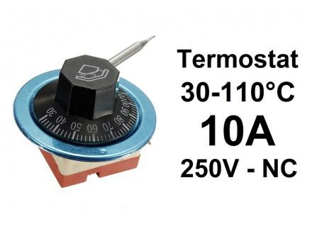 Termostat - 30-110°C 10A - 250V - NC