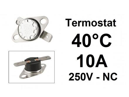 Termostat - 40°C - 10A - 250V - NC
