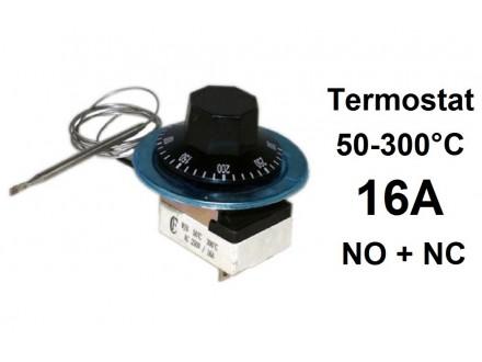 Termostat - 50-300°C 10A - 250V - NO + NC