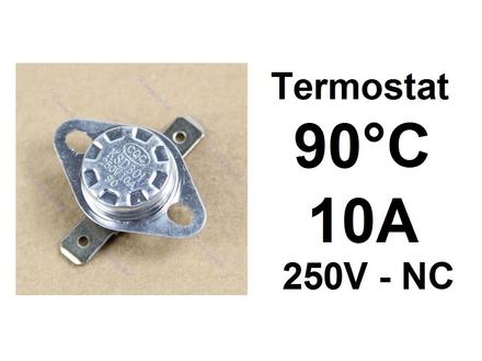 Termostat - 90°C - 10A - 250V - NC