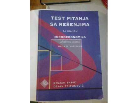 Test pitanja sa rešenjima za knjigu mikroekonomija