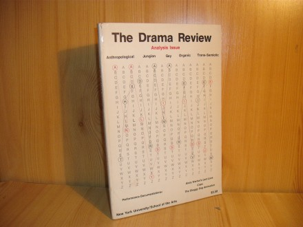 The Drama Review Analysis Issue