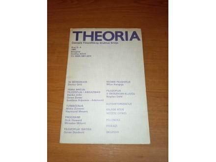Theoria - časopis filozofskog društva 3-4 1984