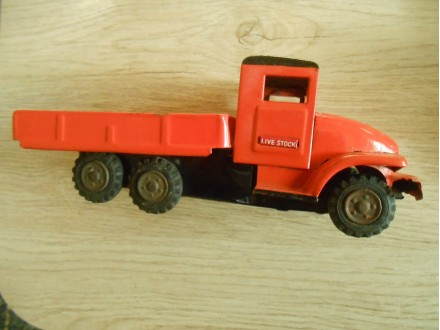 Tin Friction Toy Live Stock Truck (1950s) japan