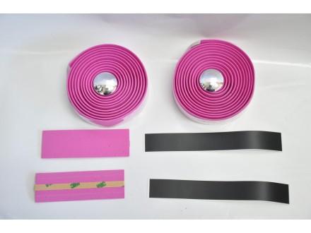Traka za korman drumskog bicikla u roze boji (par)