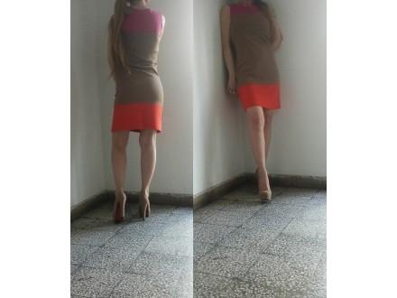 Trobojna haljina Yessica