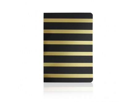 Tropical Notebook Black and Gold 25973