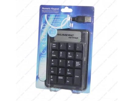 USB numericka tastatura + BESPL DOST. ZA 3 ART.