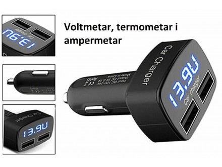 USB punjac za upaljac u kolima za napon, struju i temp