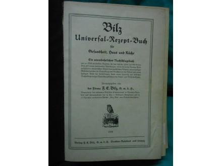 Universal Rezeptbuch von 1938 Bilz UNIVERZALNI RECEPTI