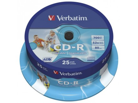 Verbatim CD-R 700/80 52x AZO Printable 43439