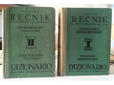 Vilhar - Italijansko-srpskohrvatski rečnik i obr.  1,2