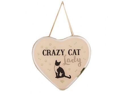 Viseća dekoracija - Best of Breed, Heart Crazy, Cat Lady - Best of Breed