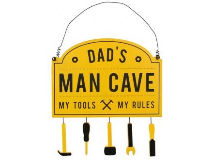 Viseća poruka - Dad`s Man Cave