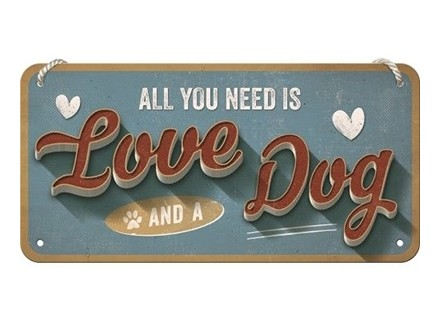 Viseći znak - Love dog - Nostalgic Art