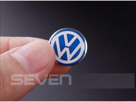 Volkswagen logo - VW stiker - plavi