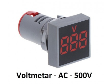 Voltmetar AC 20-500V crveni displej - 29mm