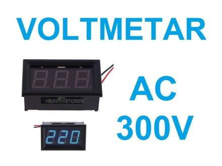 Voltmetar AC 60-300V plavi displej