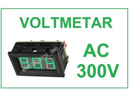 Voltmetar AC 60-300V zeleni displej