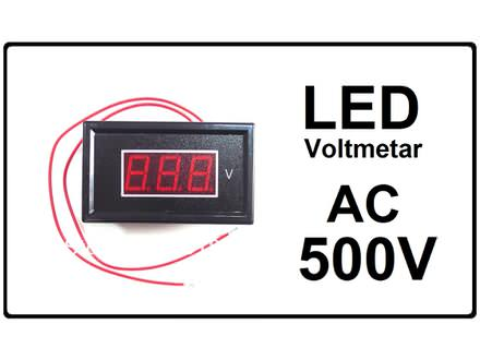 Voltmetar AC 60-500V crveni displej