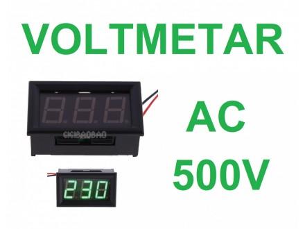 Voltmetar AC 60-500V zeleni displej
